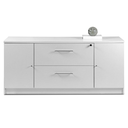 Sirius 100 Collection Modern White Credenza