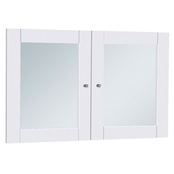 Sirius 100 Collection White Glass Bookcase + Hutch Doors