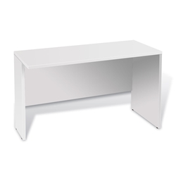 Sirius 100 Collection Medium Modern White Laminate Desk Return