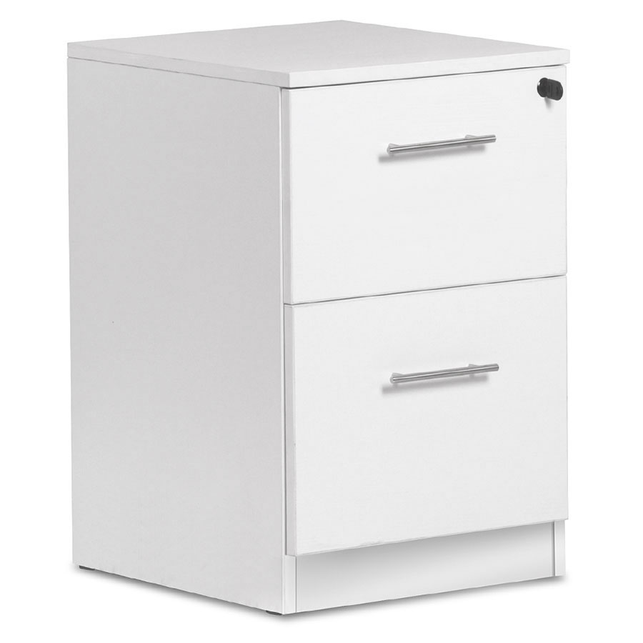 Sirius 100 Collection Modern White Two Drawer File Cabinet