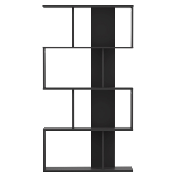 Sigma Matte Black Bookcase by TemaHome