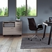 BDi Sigma Gray Wood Laminate + Black Steel + Black Glass Modern Multi Function Cabinet - Room Photo 2