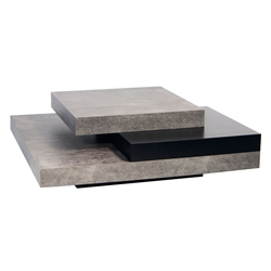 Slate Concrete Contemporary Coffee Table by TemaHome