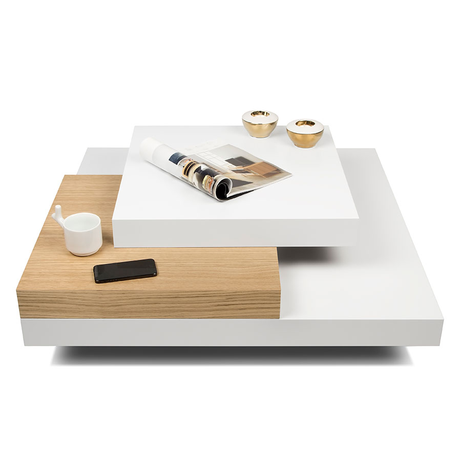 Slate whtoak coffee table by temahome eurway slate white oak contemporary coffee table dressed geotapseo Choice Image