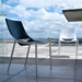 Modloft Black Sloane Modern Dining in Alpine White Leather and High Gloss White Steel - Lifestyle