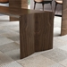 Modloft Black Soho Modern Walnut Wood Soho Bench - Room Setting Detail