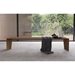 Modloft Black Soho Modern Walnut Wood Soho Bench - Room Setting