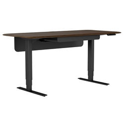 BDI Sola Modern Lift Desk in Toasted Walnut