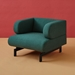 Gus* Modern Soren Chair in Stockholm Juniper Fabric Upholstery
