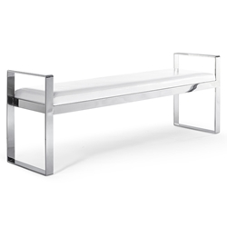 Sorrento White Modern Bench by Whiteline