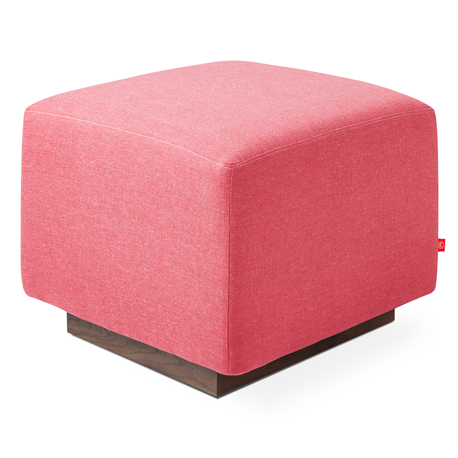 sparrow modern ottoman in berkeley coral eurway. Black Bedroom Furniture Sets. Home Design Ideas