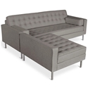 Spencer Contemporary Loft Bi-Sectional in Totem Storm