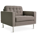 Spencer Contemporary Lounge Chair in Totem Storm