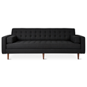 Gus* Modern Spencer Walnut Sofa in Laurentian Onyx