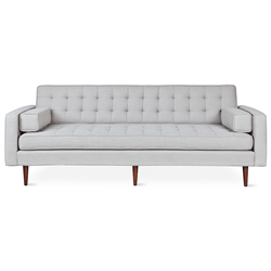 Gus* Modern Spencer Walnut Sofa in Oxford Quartz