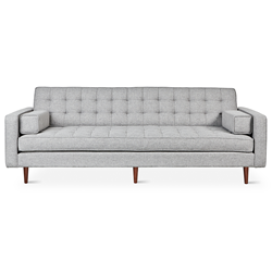 Gus* Modern Spencer Walnut Sofa in Parliament Stone