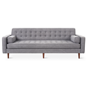 Gus* Modern Spencer Walnut Sofa in Vintage Smoke