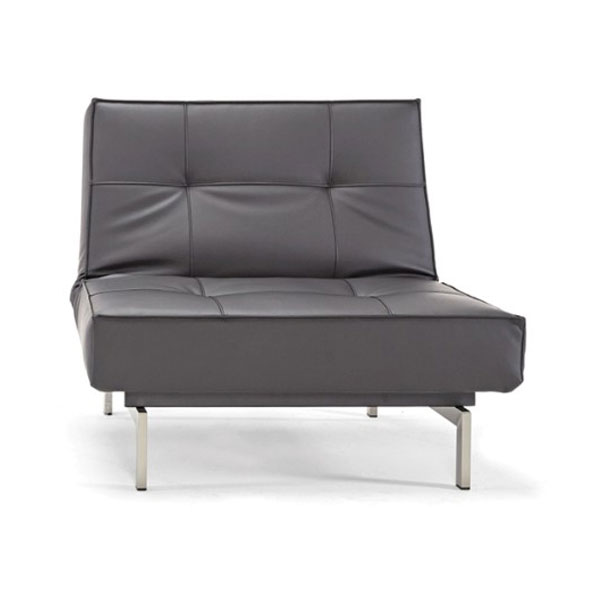 Splitback Modern Stainless Black Chair