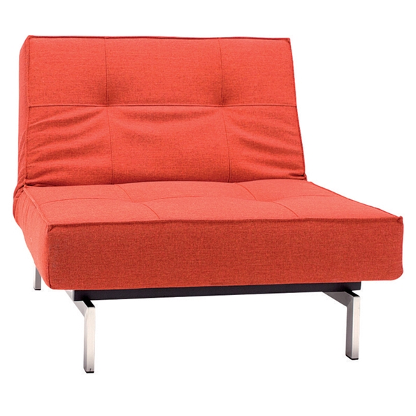 Splitback Lounge Chair in Burned Orange Fabric