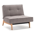 Splitback Eik Modern Chair in Grey
