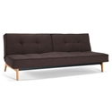 Splitback Eik Modern Sleeper in Dark Brown Begum