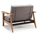 Splitback Frej Grey Sleeper Chair by Innovation