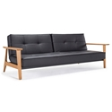 Splitback Frej Sleeper in Black Leather Look