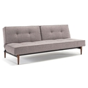 Splitback Modern Sleeper - Grey + Dark Wooden Legs