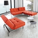 Splitback Burned Orange Modern Sleeper Sofa