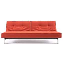 Splitback Modern Sofa Sleeper in Burned Orange by Innovation