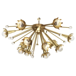 Sputnik Flush Mount Ceiling Lamp in Brass