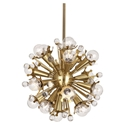 Sputnik Contemporary Pendant Lamp in Brass