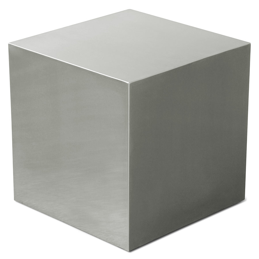 Gus Modern Stainless Steel Cube End Table Eurway