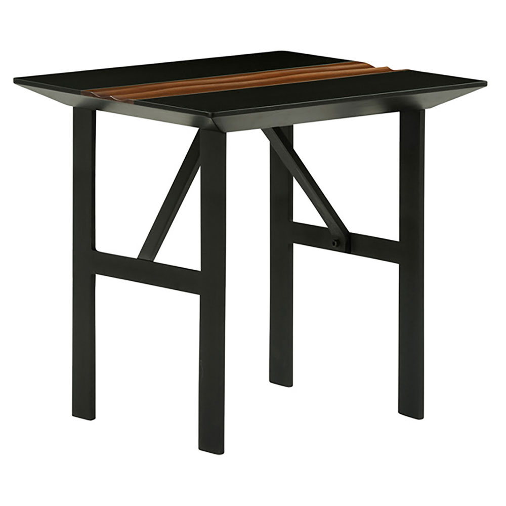 Stanton Black Modern Side Table
