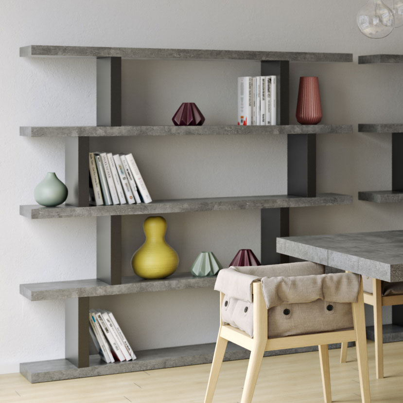 Step High Concrete Modern Bookcase By Temahome Eurway