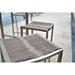 Stone Backless Contemporary Outdoor Stools by Whiteline