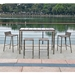 Stone Rope Seat Outdoor Modern Bar Stools