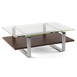 BDI Stream Contemporary Coffee Table in Chocolate
