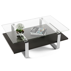 BDI Stream Contemporary Coffee Table in Charcoal