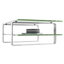 BDI Stream Contemporary Clear Glass Coffee Table