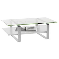 BDI Stream Contemporary Coffee Table in Satin White