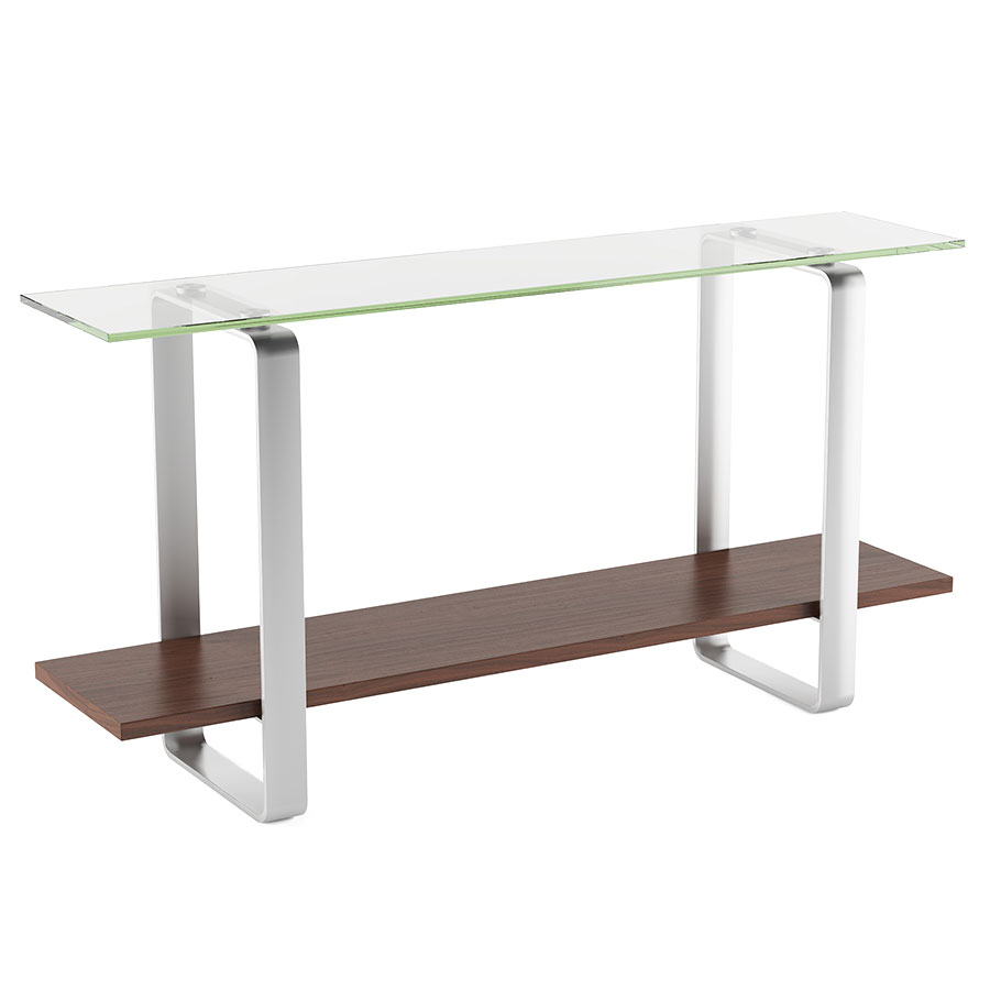 Stream modern chocolate console table by bdi eurway stream contemporary chocolate console table geotapseo Images