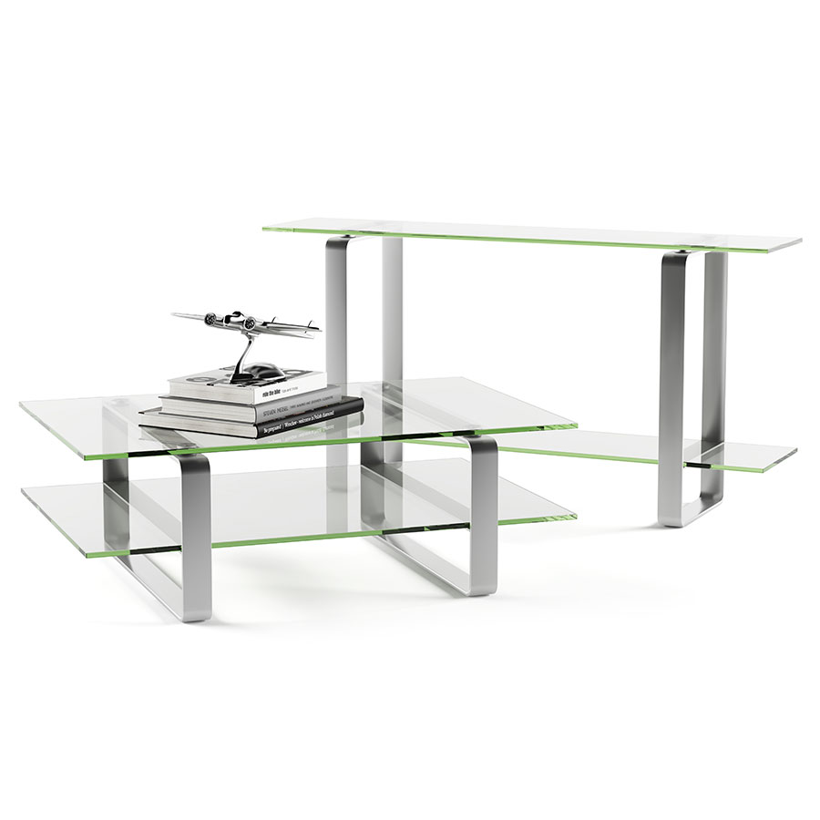 Stream Modern Glass Console Table by BDI Eurway