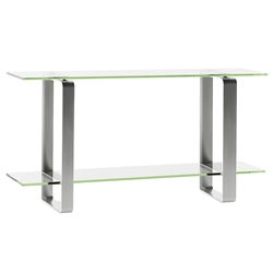 BDI Stream Modern Glass Console Table