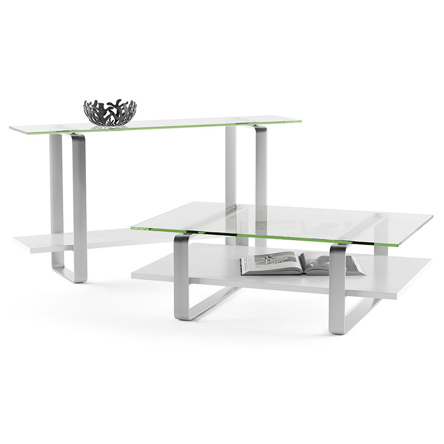 modern white console table. Stream Modern White Console Table By BDI G