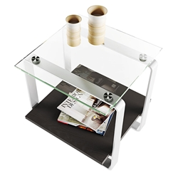 BDI Stream Contemporary Charcoal End Table