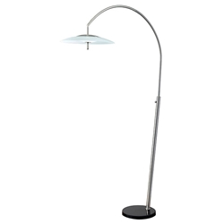 Stroud Contemporary LED Arc Floor Lamp