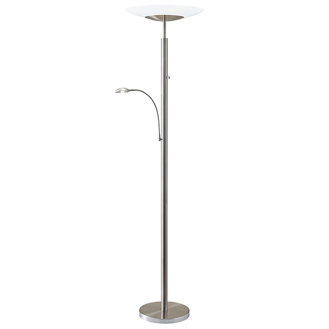 Stroud Contemporary LED Combo Torchiere Floor Lamp
