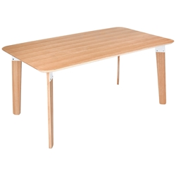 Sudbury Contemporary Table by Gus Modern in Natural Oak