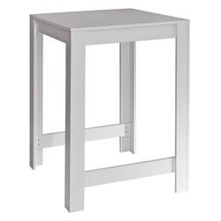 Sulens 32x28 Modern White Bar Table by TemaHome